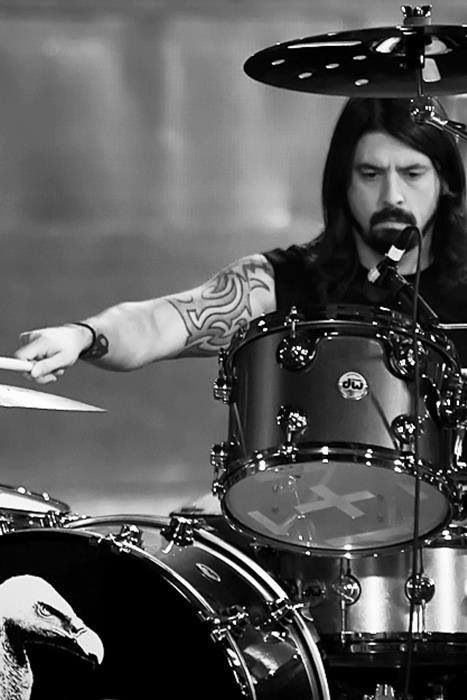 Dave Grohl With His Drums