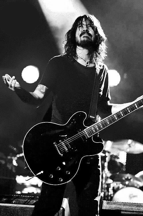 Dave Grohl With His Guitar
