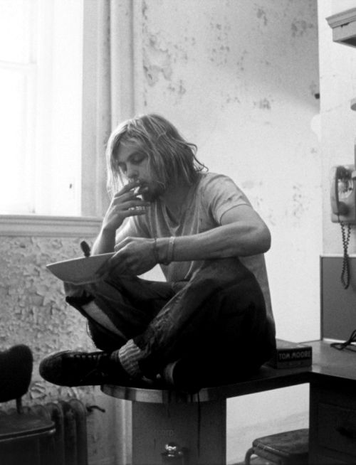 Kurt Cobain Sitting On The Table