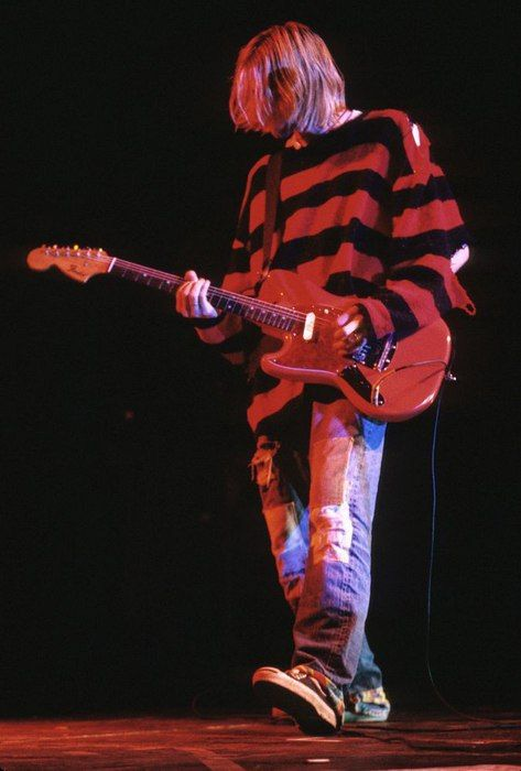 Kurt Cobain Rocking On Stage