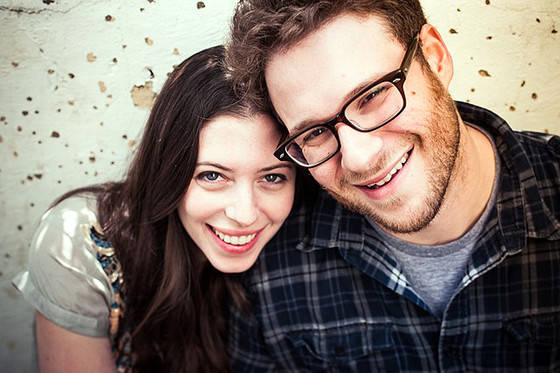 Happy Couple Lauren Miller And Seth Rogen