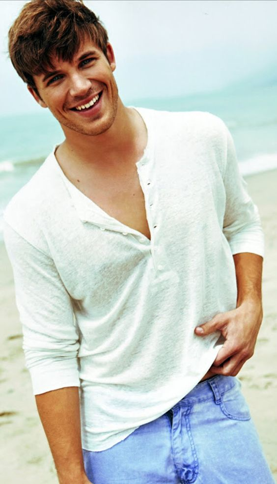 Actor Matt Lanter On The Beach