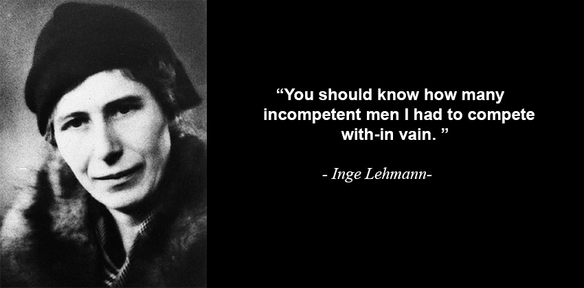 Inge Lehmann Quote About Stupid Men
