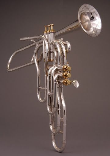 Trumpet with Six Independent Valves by Adolphe Sax