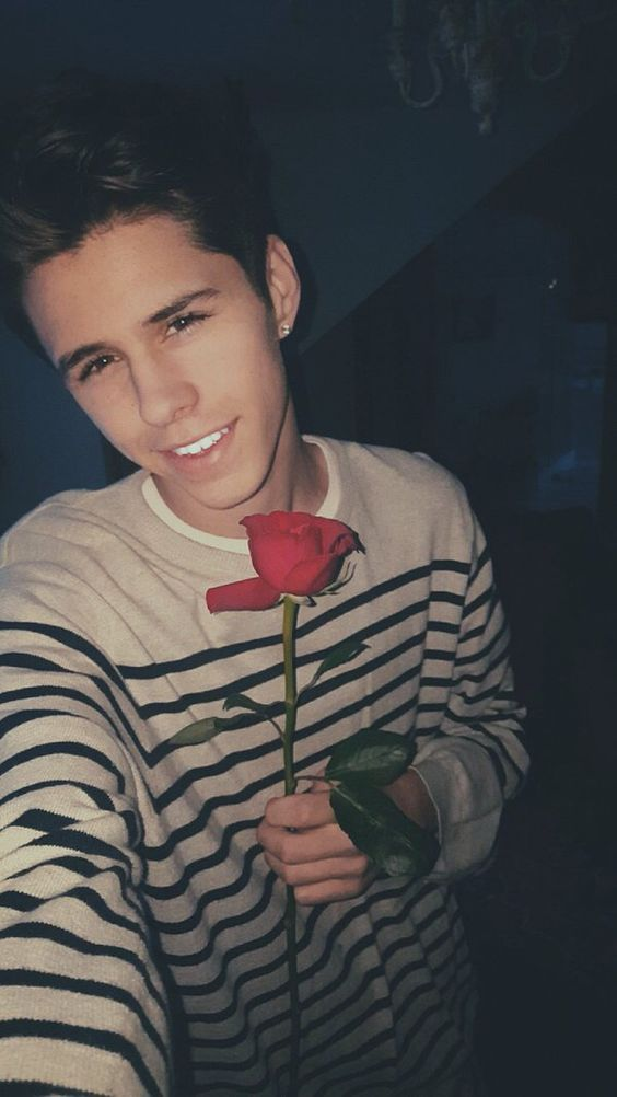 Jackson Krecioch With A Rose In His Hand