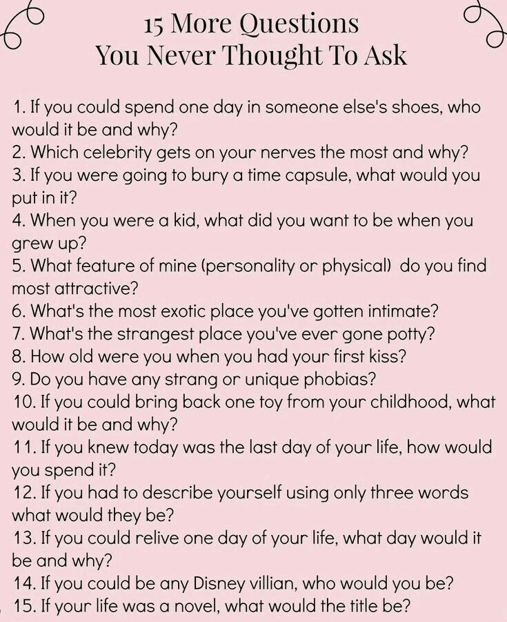 99 Get To Know You Questions, From First Date To Happily Ever After