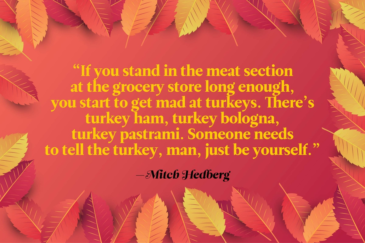 Funny Thanksgiving Toast Quote By Mitch Hedberg
