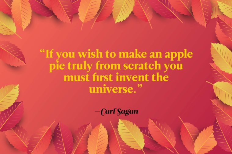 Funny Thanksgiving Toast Quote By Carl Sagan