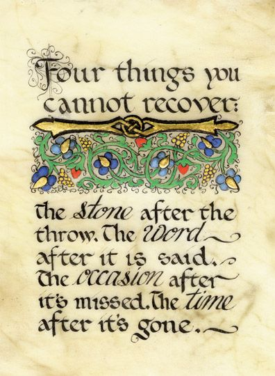 Irish Proverb About Unrecoverable Things