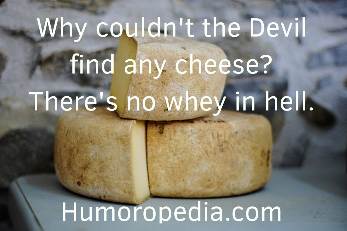 Funny Devil Pun About Cheese