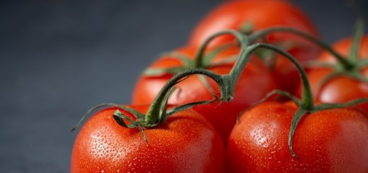 five red tomatoes